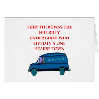 chiste del empresario de pompas fúnebres tarjeta de felicitación