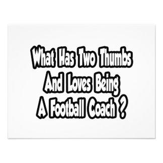 Chiste del entrenador de fútbol… dos pulgares comunicado