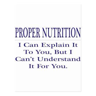 Chiste del nutricionista. Explique para no Postal