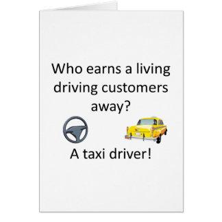 Chiste del taxi tarjeta de felicitación