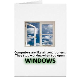 Chiste divertido de Windows - GeekShirts Tarjeta De Felicitación