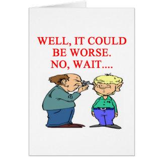 chiste divertido del doctor tarjeta de felicitación