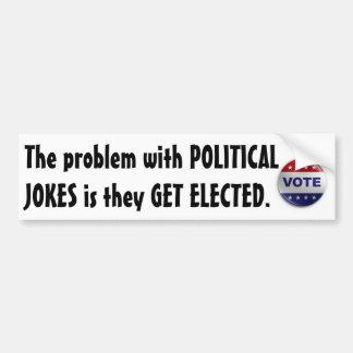 Chistes políticos etiqueta de parachoque