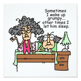 Chistoso deje el sueño gruñón invitaciones personalizada