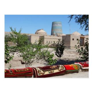Chiwa, Khiva mirada a Kalta Minor minarete Postal