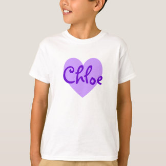 Chloe en púrpura camiseta