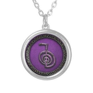 CHO KU REI - el símbolo del poder de Reiki Collar Plateado