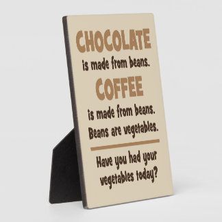 Chocolate, café, habas, verduras - novedad placa expositora