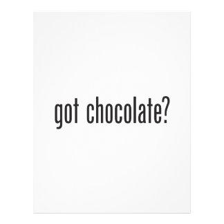 chocolate conseguido folleto 21,6 x 28 cm
