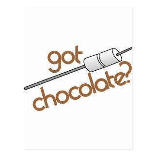¿Chocolate conseguido? Postal