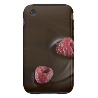 chocolate de la frambuesa carcasa though para iPhone 3