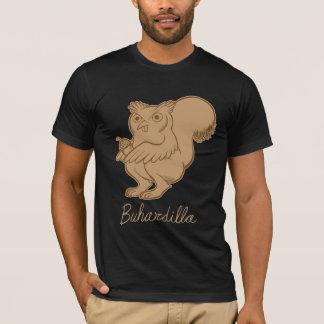 CHOCOLATE del COLOR de Buhardilla (oscuro del Camiseta