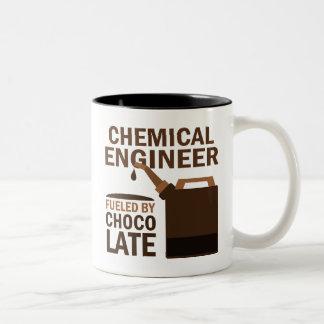 Chocolate (divertido) del ingeniero químico taza de café de dos colores