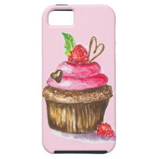 Chocolate lindo y de la diversión, magdalena de la funda para iPhone SE/5/5s