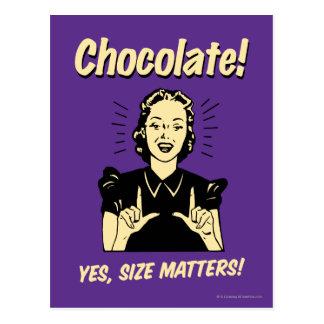 Chocolate: Materias del tamaño Postal