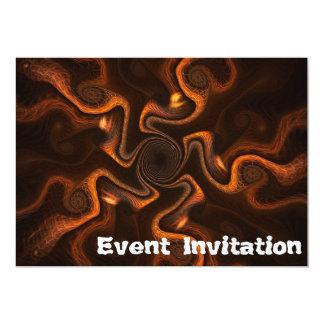 Chocolate mexicano invitación 12,7 x 17,8 cm