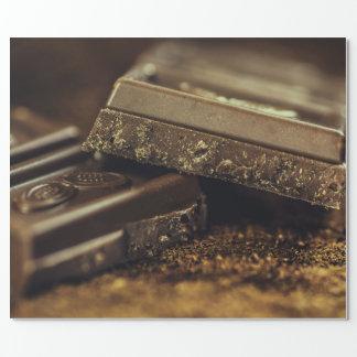 Chocolate oscuro papel de regalo
