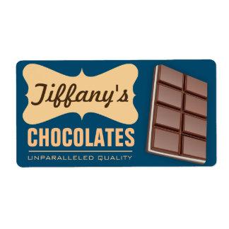 Chocolates hechos a mano retros de la tienda el | etiqueta de envío