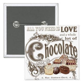 chocolates modernos del francés del vintage
