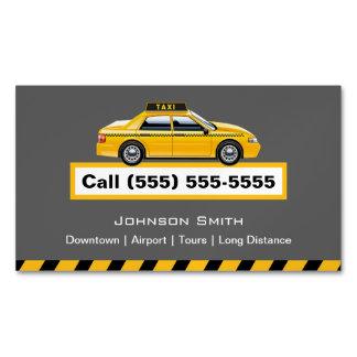 Chófer amarillo del taxista del casquillo tarjetas de visita magnéticas (paquete de 25)