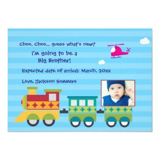 Choo Choo cuál es nueva invitación del embarazo Invitación 12,7 X 17,8 Cm