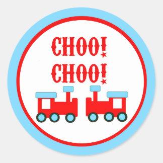 Choo Choo entrena a los pegatinas Pegatina Redonda