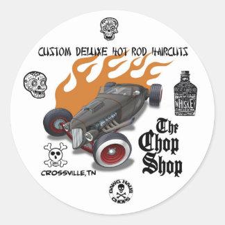 chopshop2, sello, 40794_1523095088132_155724727… pegatina redonda