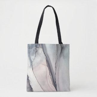 Choque gris - Inkwork de Karen Ruane Bolso De Tela