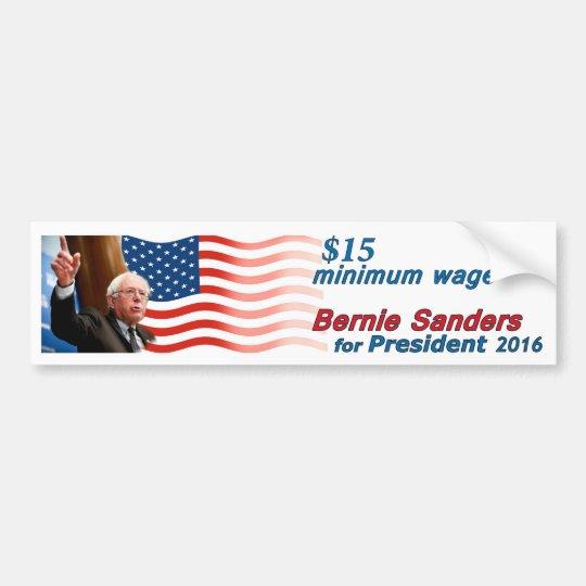 Chorreadoras de Bernie: Salario mínimo $15 Pegatina Para Coche