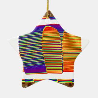 CHOZA de bambú pintada de la estera de la paja Ornamento Para Arbol De Navidad