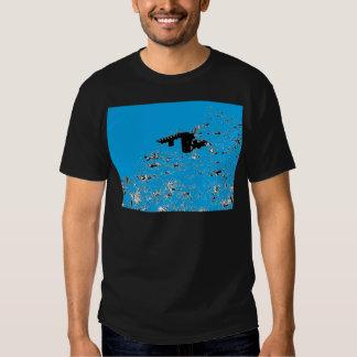 Choza del desierto de la turquesa camisas