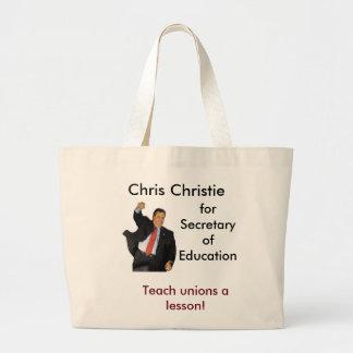 Chris Christie para la secretaria de la educación Bolsa Tela Grande