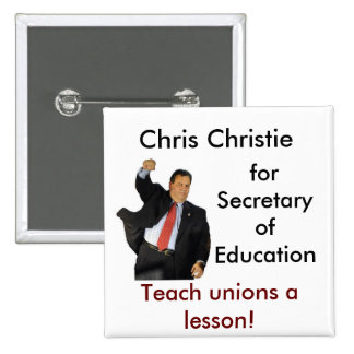 Chris Christie para la secretaria de la educación Chapa Cuadrada
