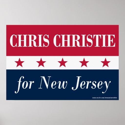 Chris Christie para New Jersey Poster