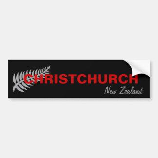 CHRISTCHURCH, NUEVA ZELANDA PEGATINA PARA COCHE