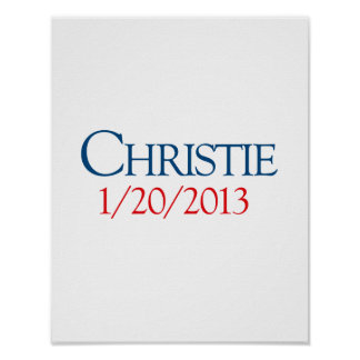 CHRISTIE 1-20-2013 POSTER