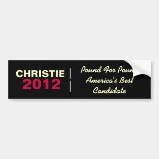 CHRISTIE 2012 libras para la pegatina para el para Etiqueta De Parachoque