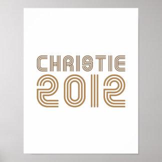 CHRISTIE 2012 (VINTAGE) POSTER