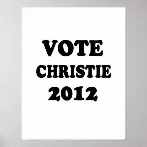 CHRISTIE DEL VOTO EN 2012 POSTERS