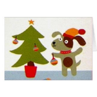 Christmas of dog - felicitación