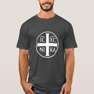 Christogram ICXC NIKA Jesús conquista al cristiano Camiseta