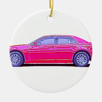 Chrysler 2013 300 adorno navideño redondo de cerámica
