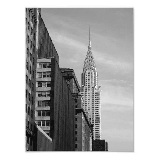 Chrysler que construye la IMPRESIÓN B&W de la FOTO
