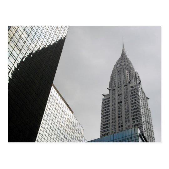 Chrysler que construye la postal