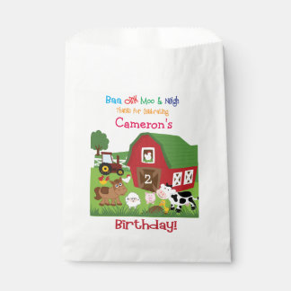 Chuchería del cumpleaños del animal del bolsa de papel