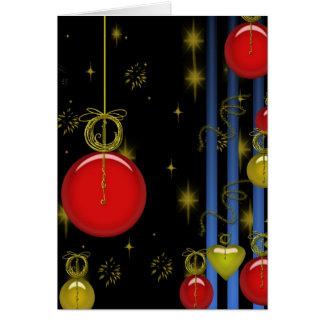 Chuchería del navidad de las decoraciones del día tarjeta de felicitación