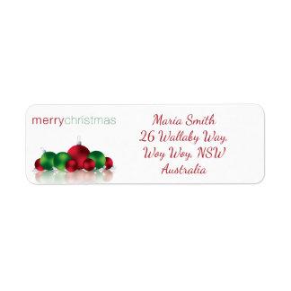 Chuchería del navidad etiqueta de remite