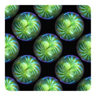 Chucherías brillantes de la burbuja del circo del invitación 13,3 cm x 13,3cm