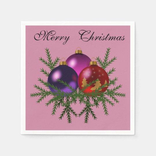 """Chucherías elegantes """"de las Felices Navidad"""" Servilletas De Papel"""