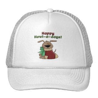 Chucho feliz de los Aullido-uno-Días Gorros Bordados